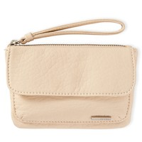 Faux Leather Wristlet