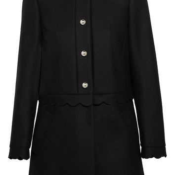 REDValentino - Scalloped wool-blend coat