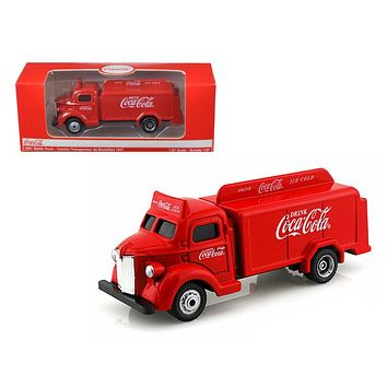 1947 Coca Cola Delivery Bottle Truck Red 1:87 Diecast Model