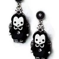 Gothic earrings 'Wednesday Addams' goth victorian halloween