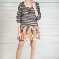 Kelly Paisley Print Dress