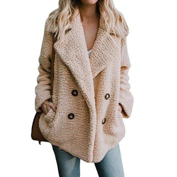 Buttoned Casual Quilted Coat