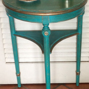Turquoise Green Hall/Foyer Table