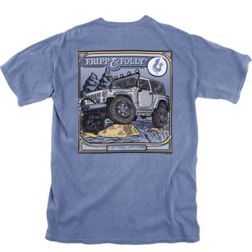 On the Rocks Tee in Blue Jean by Fripp & Folly