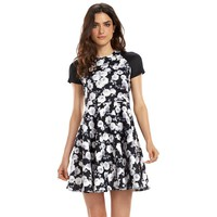 ELLE 70th Anniversary Collection 2000s Floral Fit & Flare Scuba Dress
