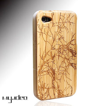 SALE30OFF mymade natural bamboo iphone 4 4s case  bird by mymade1