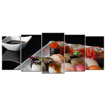 Sushi On A Plate 1 - 5 panels XL