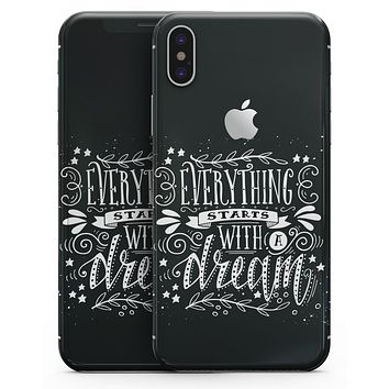 Everything Starts with a Dream - iPhone X Skin-Kit