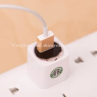 Decal for Apple 5W USB Power Adaptor decal laptop decal macbook keyboard decal skin - Coffee