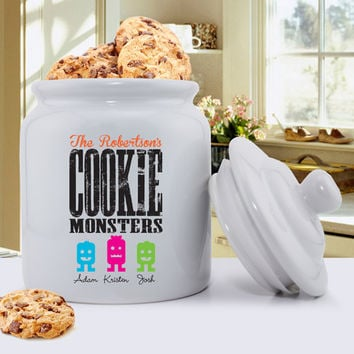 Personalized Ceramic Cookie Jar-Great Grandparent Gift