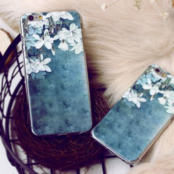 Creative Lovely Flower Printed Iphone Case For Iphone 6 6s plus 7 7 plus  Best Gift 002