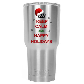 RTIC Keep Calm and Happy Holidays 30 oz Tumbler Cup