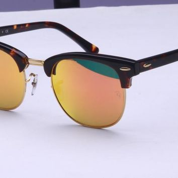 Ray Ban Aluminum Clubmaster Sunglass RB3016 Clubmaster 1145/19 49
