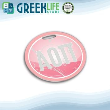 Alpha Omicron Pi Round Bag Tag