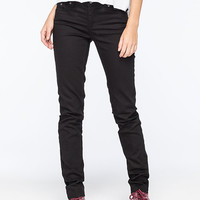 Element Sticker Womens Skinny Jeans Black  In Sizes