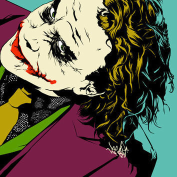 Joker So Serious Art Print by Vee Ladwa