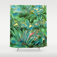 tropical forest Shower Curtain by clemm