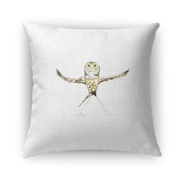 OWL TWIST Accent Pillow By Birds Doing Yoga