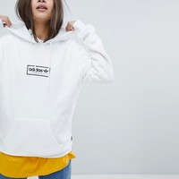 adidas Skateboarding Hoodie In White With Central Logo at asos.com