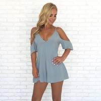 Breath of Fresh Air Romper in Blue