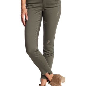 Jolt | Distressed Step Hem Skinny Pants (Juniors) | Nordstrom Rack