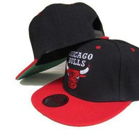 CREY8KY Chicago Bulls NBA 9FIFTY Caps Red-Black