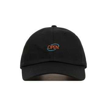 Embroidered Neon Open Sign Dad Hat - Baseball Cap / Baseball Hat