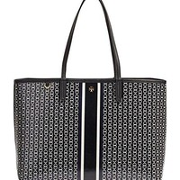 Tory Burch Gemini Link Tote in Black Gemini Link Stripe