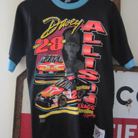 RARE 1993 Davey Allison No 28 Nascar T-Shirt, M // 90s Texaco Havoline Racing T-Shirt // Vintage The Game Tee