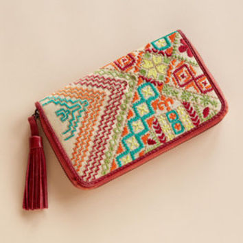 STITCHED SAMPLER CLUTCH         -                  Clutches & Wallets         -                  Bags         -                  Women                       | Robert Redford's Sundance Catalog
