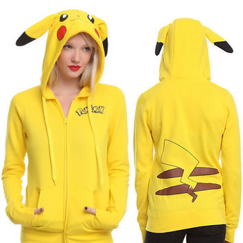 Fall Winter Fashion 2016 Pikachu Long Sleeve Hoodies [9052572356]