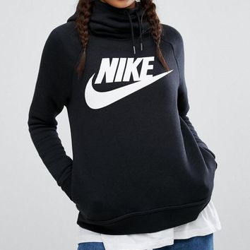 """""""NIKE"""" Women Fashion Hooded Sweater Pullover Hoodie"""