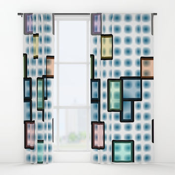 zappwaits glass Window Curtains by netzauge