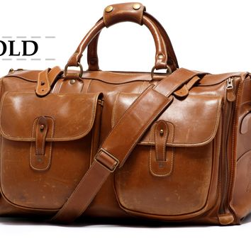 Vintage Luggage | Express No. 2 Chestnut Leather | Ghurka