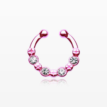 Colorline Elan Multi-Gem Fake Septum Ring