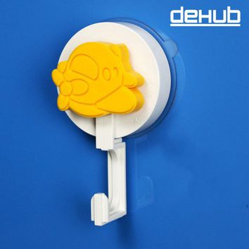 DEHUB Kitchen Children Vacuum Suction Robe Multicolor Cartoo Pattern Hooks Bathroom Tile Nail Towel Sticky Load Bearing 5kg