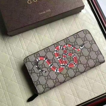 VONEA7H Men Authentic Gucci GG Monogram snake Wallet