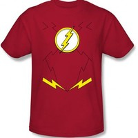 The Flash Uniform Costume Adult Red T-Shirt