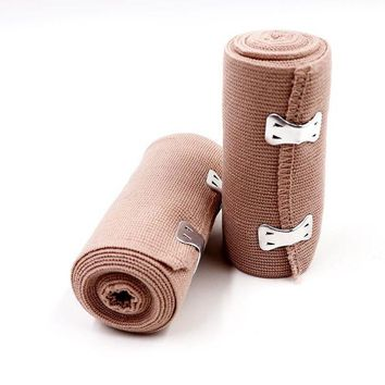 ONETOW BearHoHo Medical Elastic Bandage 4 Inch Compression Wrap with Clips First Aid Kit Bag Refill 10*450CM Set of 2 CE Approved