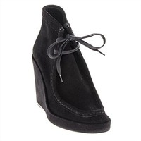 Balenciaga Top-Stitched Tall Wedge Ankle Boot