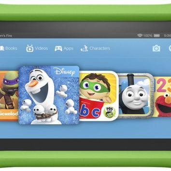 "Amazon - Fire Kids Edition - 7"" - Tablet - 16GB - Green"