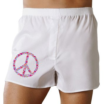 Peace Sign Hearts Boxer Shorts