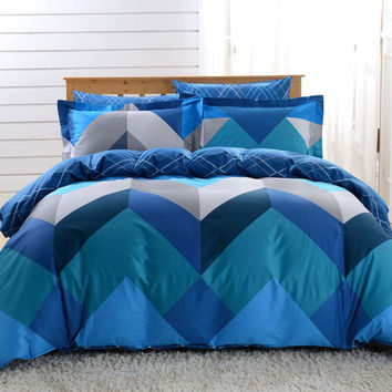 Duvet Cover Sheets Set, Dolce Mela Mykonos Queen Size Bedding