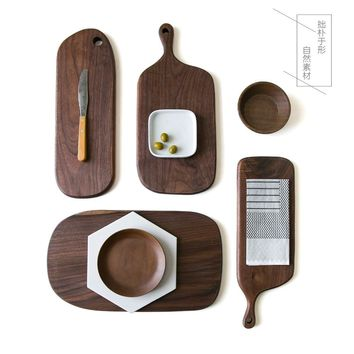 Wood Bread Board Pizza Board Cutting Board With Handle Hole