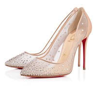 Follies Strass 100mm Nude Leather