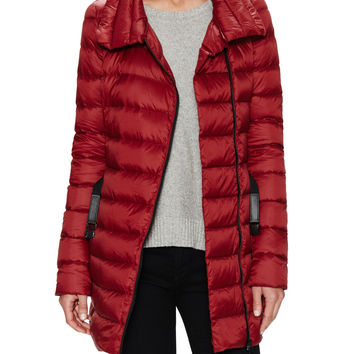 Soia & Kyo Women's Vivian Quilted Belted Coat - Red -