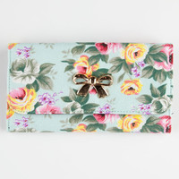 Floral Bow Wallet Mint One Size For Women 26172152301