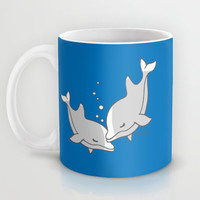 Dolphins Mug by Joanfriends