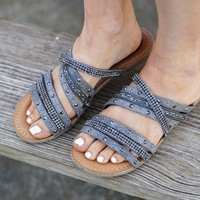 Not Rated Sandals ~ Pewter
