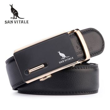 New arrival men automatic buckle brand designer leather belts for business men high quality